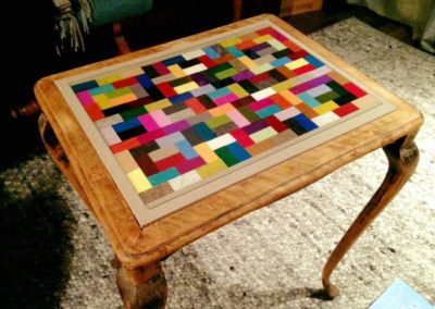 Tischplatte mit Filz